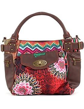 Desigual Mcbee Tanzania Pink Braun 61X51A8-7032 Damen Handtasche Tasche Henkeltasche Schultertasche Umhängetasche