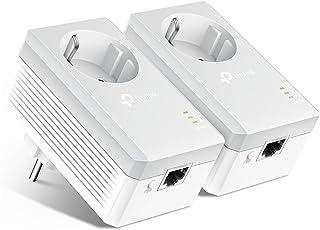 TP-Link TL-PA4010P KIT Powerline Adapter (600Mbit/s Steckdose Powerline, 1x10/100Mbit/s-Ethernet-Port, Plug & Play, energiesparend, kompatibel zu allen gängigen Powerline Adaptern) weiß