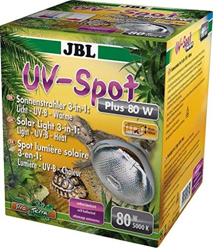 JBL UV-Spot plus 61834 UV-Spotstrahler mit Tageslichtspektrum Licht UV-B Wärme, E27, 80 W
