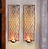 #6: Tied Ribbons T Wall Mounted Tea Light Holder With Tealight Candle For Diwali Decoration