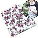 Gartenschürze mit Rosen Muster und 5 Taschen abwaschbar Blumen Gärtnerschürze