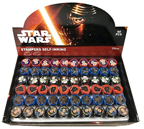 Disney Star Wars Self-inking Stamps Birthday Party Favors 60 Pieces (Complete Box) by Disney