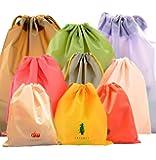 CHRISLZ 9 PCS Sac de Rangement Imperméable pour Vêtements 3 Sac de Rangement de Voyage de Différentes Tailles Sacs à Cordon Sac sale Sac à Cordes Sac de Chaussures