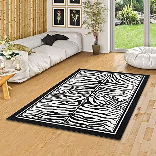 Pergamon Trendline - Alfombra Moderna - Zebra Negro