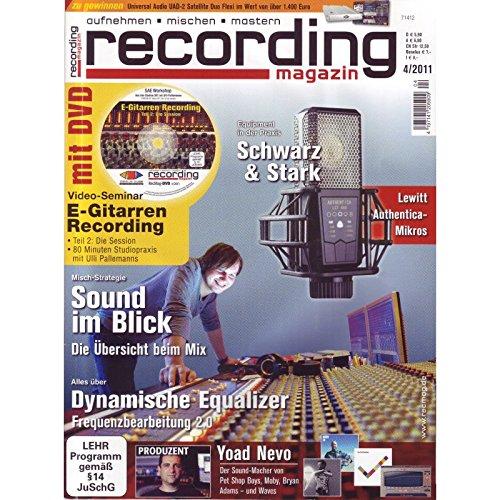 Recording Magazin 4 2011 mit DVD - Frequenzbearbeitung - E-Gitarren Recording Videoseminar Teil 2 - aufnehmen - mischen - mastern