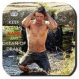 Yummy Grandmummy Keep Calm (Name und Drool Drake mit mit Name des Empfängers Coaster mit Bild eines nackten chested Drake Carne von Harry Richardson im neuen Saison mit der BBC TV-Serie Poldark.