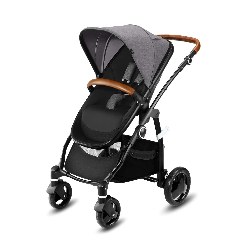 cbx Kombikinderwagen Leotie Lux mit wendbarem Luxsitz, Kunstlederaccessoires und faltbarem Kinderwagenaufsatz für…