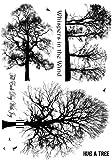 Crafty Personen unmontiert Stempel 12x 7-inch-Winter Bäume