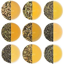 Grüner Teeblatt-Probenehmer - 10 TEES, 50 PORTIONEN - 100% NATÜRLICHER Gewicht-Verlust-Tee, abnehmender Tee u. Detox-Tee, grüner Tee-lose Blatt mischte mit den überlegenen Bestandteilen