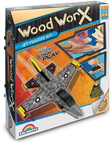 Preisvergleich Produktbild Colorific - Wood Worx - Düsenjäger Bastel-Bauset
