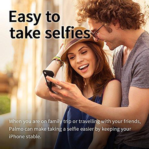 Custodia Case Palmo per iPhone 6s/6 plus (Nero) - One finger gripping iPhone case to prevent dropping Vincitrice del Premio Red Dot: Product Design 2017 e del GOOD DESIGN AWARD 2015 – Test di caduta d Nero