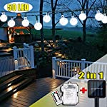 iihome, 36ft(11M) 60 LED String Outdoor IP65 Waterproof Solar Powered Crystal Ball Decorative Lighting 8 Modes for… 12