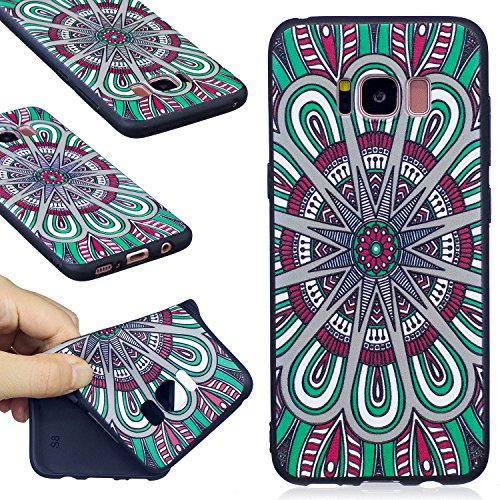 S8 Hülle ,Samsung S8 Shell Case , Galaxy S8 Black Hülle, Cozy Hut® [Liquid Crystal] [Matte Black] [With Lanyard/Strap] Samsung Galaxy S8 Ultra Slim Schutzhülle ,Anti-Scratch Shockproof und Schutz vor  Mandala