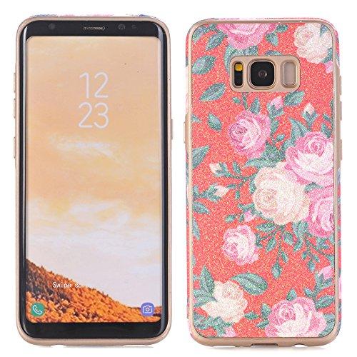 Abdeckung für Galaxy S8 Plus, TechCode Blumenmuster TPU Weiche Schale Super Dünn und Leichte Schützender Hülle für Samsung Galaxy S8 Plus (Galaxy S8 Plus, A04)