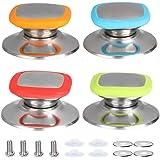 4 Piezas Perilla La Tapa La Cacerola, Perillas Repuesto, Cocina Universal Cocina para Tapa Olla botón(Rojo, azul, verde, nara