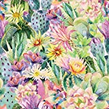 Stoff Dekostoff Digitaldruck DELIGHTFUL CACTUS Kaktus Stoff Canvas - Meterware - Stoff zum Nähen