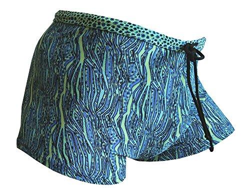Solar Tan Thru Badehose Panty 7971452-52 blau/türkis/gelb blau/türkis/gelb gemustert