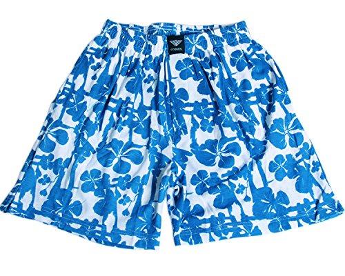 Godsen Herren Mode Beachshorts Boardshorts Freizeit Sommer Shorts Baumwolle Blau