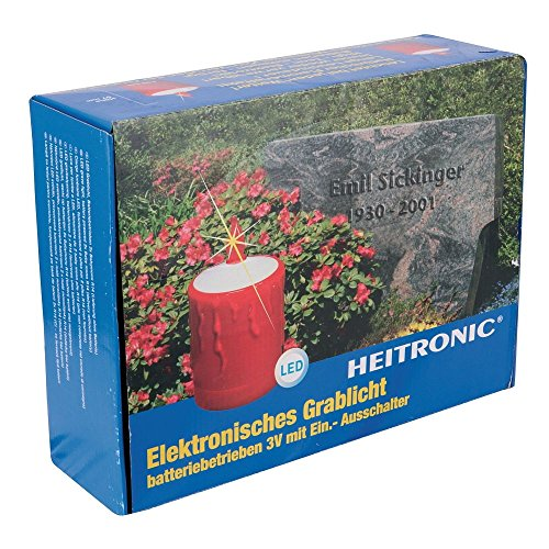 Heitronic LED Grab Luz, 2x pilas LR 14, sensor de día/noche