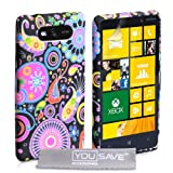 Yousave Accessories NO-KA01-Z315 Custodia in Silicone per Nokia Lumia 820, Multicolore