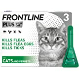 FRONTLINE Plus Flea & Tick Treatment for Cats and Ferrets - 3 Pipettes