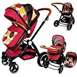 iSafe System - C&M Trio Travel System Pram & Luxury Stroller 3 in 1 Complete with Car Seat