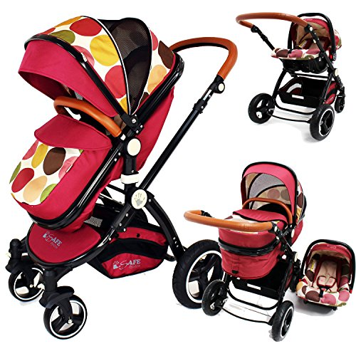 i-Safe System – C&M Trio Travel System Pram & Luxury Stroller 3 in 1 Complete With Car Seat 61RpbcJzGIL