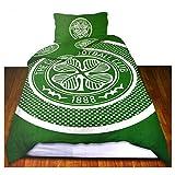 Celtic FC Official Bullseye Reversible Duvet Cover Bedding Set