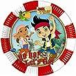 Partido Ênico 20 cm de Yo Ho Disney Jake y los platos Nunca Jamás Fiesta Piratas (paquete de 8)