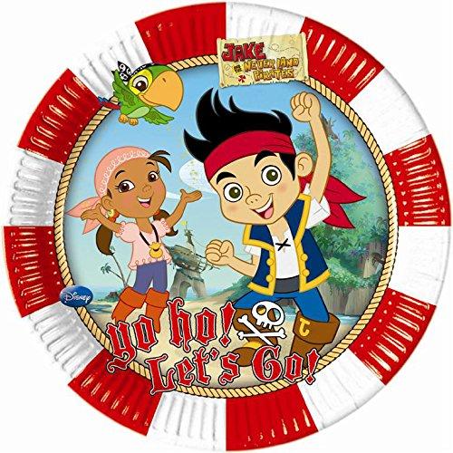 procos-82608-piatti-carta-captain-jake-oe20-cm-8-pezzi-multicolore
