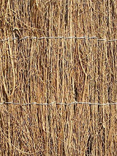 Sichtschutz aus Reisig - 2m Hoch x 4m Rolle - Papillon