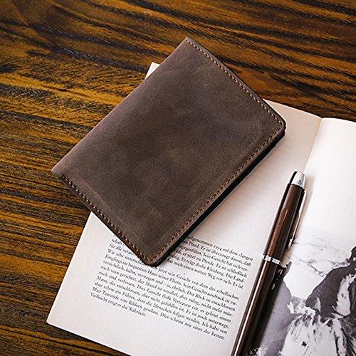Leder Herren Geldbörse, Brieftasche, handgefertigte Kopf Schicht, Rindsleder, junge Persönlichkeit, Querschnitt, Retro Tasche, Frosted Kaffee Frosted coffee