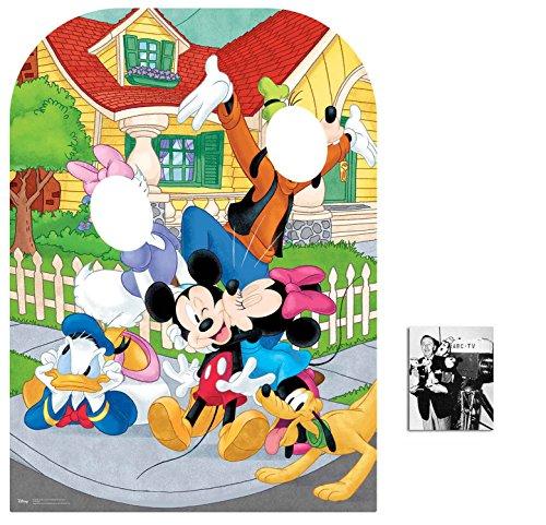 Mickey Mouse und Freunde Stehen Hinter Kindergröße Pappaufsteller - mit 25cm x 20cm foto (Pappaufsteller Mouse Mickey)