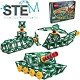 Klikko Toys Tanks Model Building Set - 225 Pieces - Ages 7+ Engineering Education Toy Chirstmas Gift For Boys And Girls With Activities To Learn