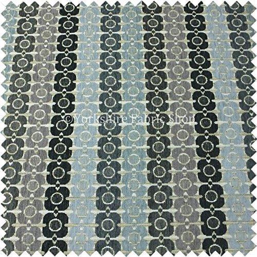 Yorkshire Fabric Shop Kleines Geometrische Muster Grau Lila Blau Farbe Chenille Innendekoration Innen Möbelstoff, -