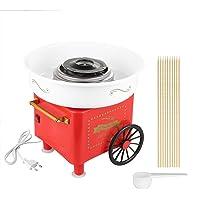 Machine à Barbe à Papa,500W Électrique Candy Floss Maker pour Maison et Fete Foraine Anniversaire Enfant (Rétro Rouge)