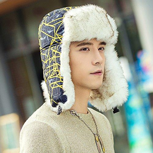 Global- Mode Chapeau d'hiver créatif, coupe-vent Protège le cou épaule d'épaississement de la protection Homme ( couleur : Le jaune ) Le jaune