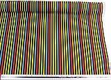 Kinder gestreift schwarz gelb blau rot grün orange 100% Baumwolle Hochwertiger Stoff Material Meterware