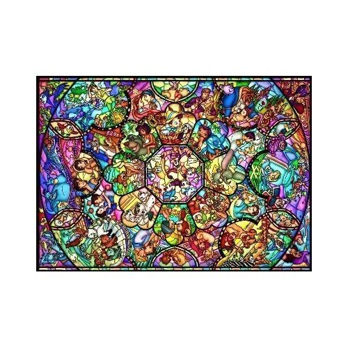 Preisvergleich Produktbild Disney Stained Art Jigsaw Puzzle[500p] All Stars Stained Glass (D500-457) by Disney
