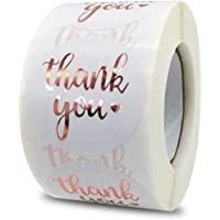 Adesivo di ringraziamento da 1,5 pollici, etichetta adesiva di ringraziamento in oro rosa da 500 pezzi, utilizzato per…