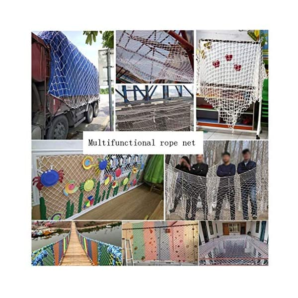 Protective net, anti-fall safety net cat net balcony safety net children's fence net safety net decoration net kindergarten playground park stadium multi-purpose (Size : 10 * 10M(33 * 33ft))  ◆ Safety net wire diameter 6MM, mesh spacing 10CM.Color: white rope net.Our protective mesh can be customized according to your needs. ◆Protective net material: Made of nylon braided rope, hand-woven, tightened.Exquisite workmanship, solid and stable, can withstand 300kg weight impact. ◆Features of decorative net: soft material, light mesh, multi-layer warp and weft, fine wiring, fine workmanship; clear lines, non-slip durable, anti-wear. 7
