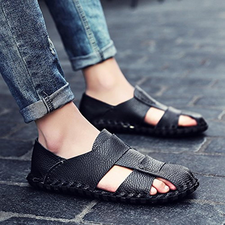 OME&QIUMEI Los Hombres Sandalias Verano Zapatos De Ocio Baotou Hombres Zapatillas Zapatillas De Playa Transpirable