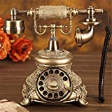 rétro téléphone Téléphone Antique Téléphone Rotatif Européen Mode Créative Rétro Maison Accueil (Travailler directement avec le courant sur la ligne téléphonique)
