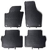 AME Prime - Auto-Gummimatten Fußmatten in schwarz mit Wabendesign, Geruch-vermindert und passgenau mit Befestigungen 866/4C
