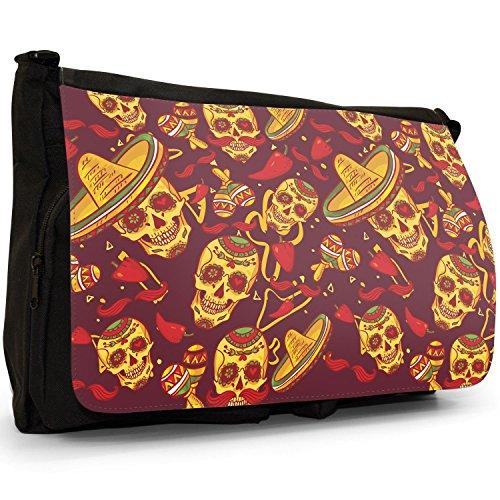 Fancy A Snuggle, Borsa a spalla donna Skulls In Sombreros & Maracas