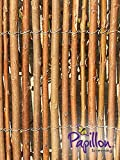 "Willow Screening 4m x 1.8m - 13ft x 5ft 11"" Willow Fencing Screen Rolls by Papillon Garden Screening - Primrose London - amazon.co.uk"