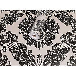 Tapeten Folie 3000-S selbstklebend Ranke arabesk Retro Vintage Dekor 10 m x 45 cm Dekorfolie Möbelfolie Tapete 3031