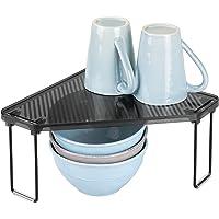 mDesign étagère cuisine en plastique et métal – rangement cuisine autoportant pour plan de travail et armoire – range…