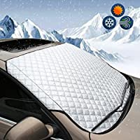 BEEWAY Car Windshield Cover, Heavy Duty Ultra Thick Protective Windscreen Cover - Snow Ice Frost Sun UV Dust Water Resistent - Pefect Fit for Cars SUVs All Years Summer/Winter 22