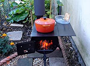 Dunster House Camp Stove Cooker Outdoors Portable Wood Burning BBQ Camping Hiking - HopeStove